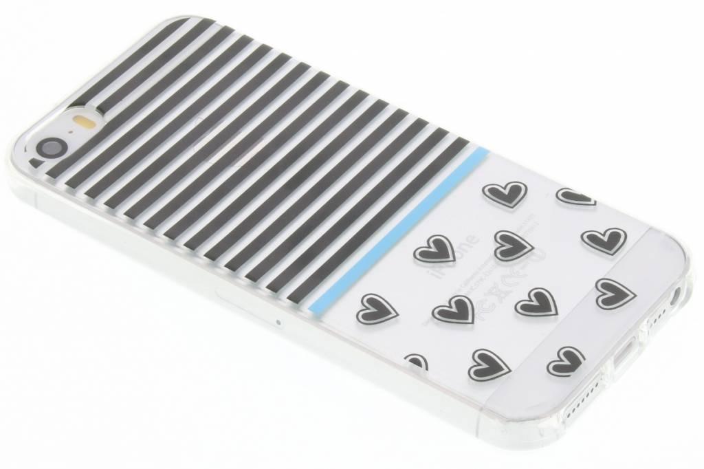 Streep design TPU siliconen hoesje voor de iPhone 5 / 5s / SE
