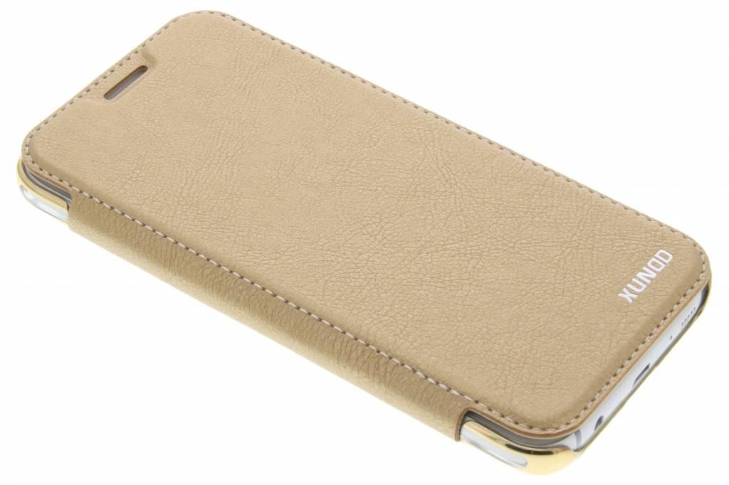 Gouden crystal slim book case voor de Samsung Galaxy J5