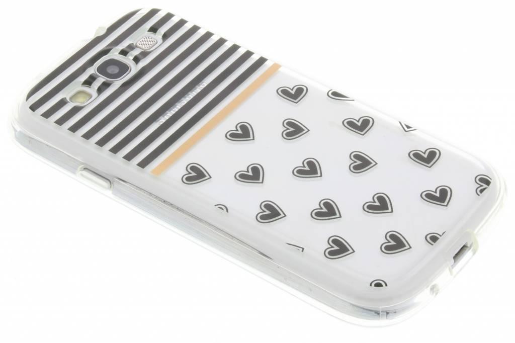 Streep design TPU siliconen hoesje voor de Samsung Galaxy S3 / Neo