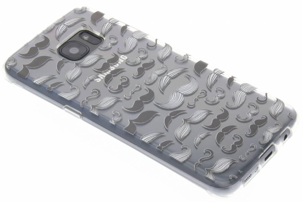 Mustache design TPU siliconen hoesje voor de Samsung Galaxy S7 Edge