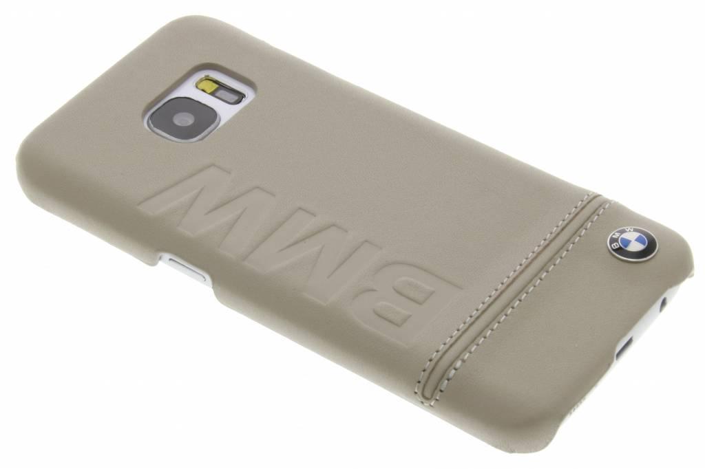 BMW Real Leather Hard Case voor de Samsung Galaxy S7 - Bruin