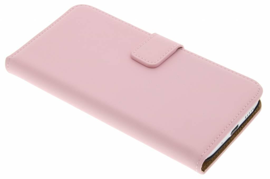 Selencia Luxe Book Case voor de HTC 10 - Poederroze