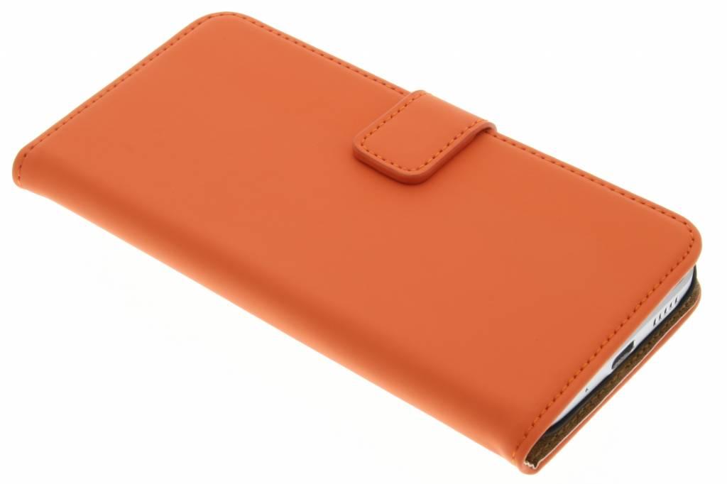 Luxe Book Case voor de HTC 10 - Oranje