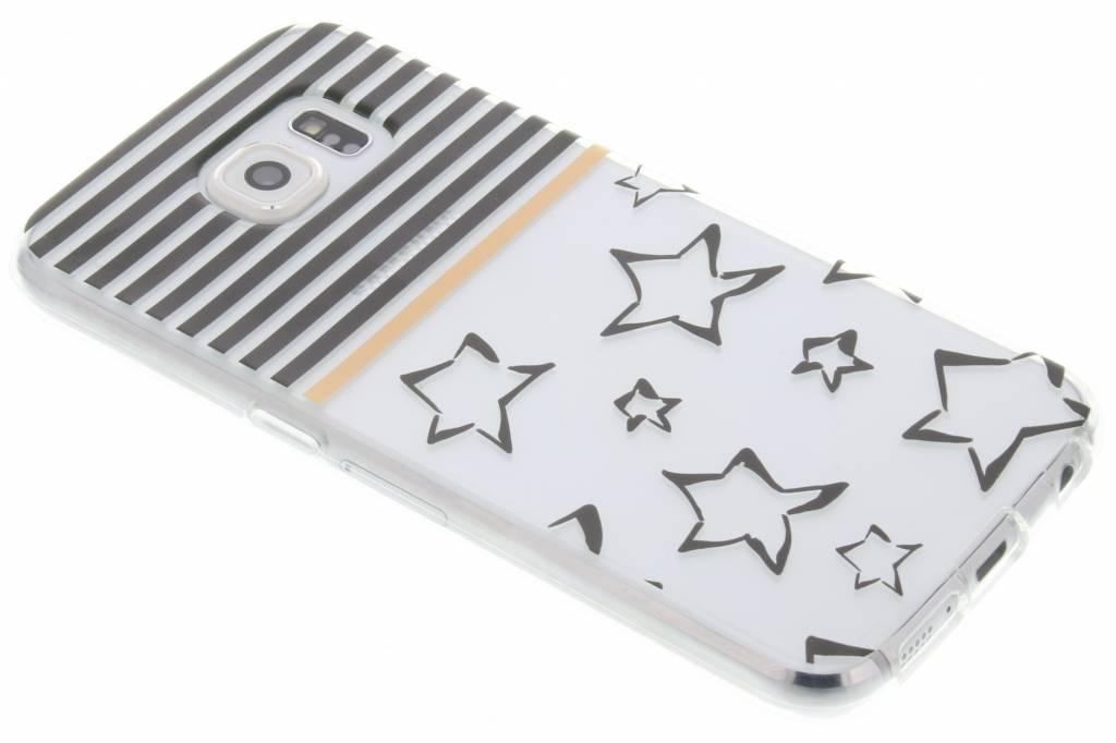 Streep design TPU siliconen hoesje voor de Samsung Galaxy S6