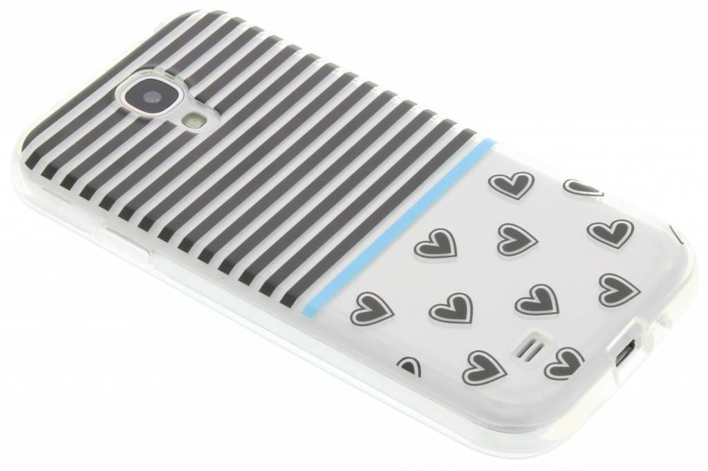 Streep design TPU siliconen hoesje voor de Samsung Galaxy S4