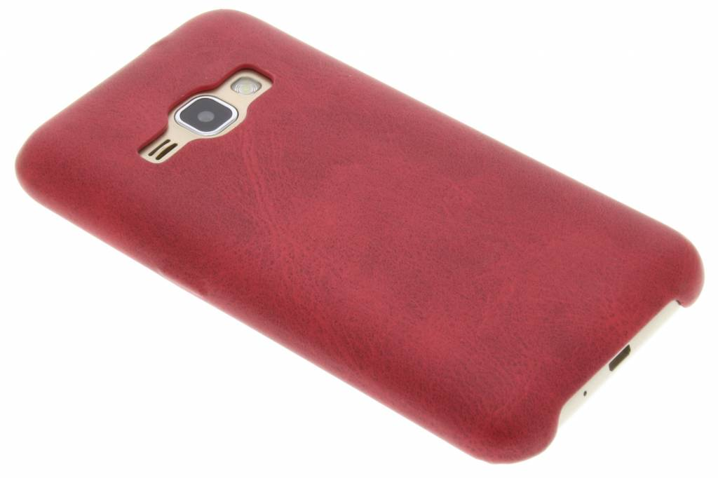 Rode TPU Leather Case voor de Samsung Galaxy J1 (2016)