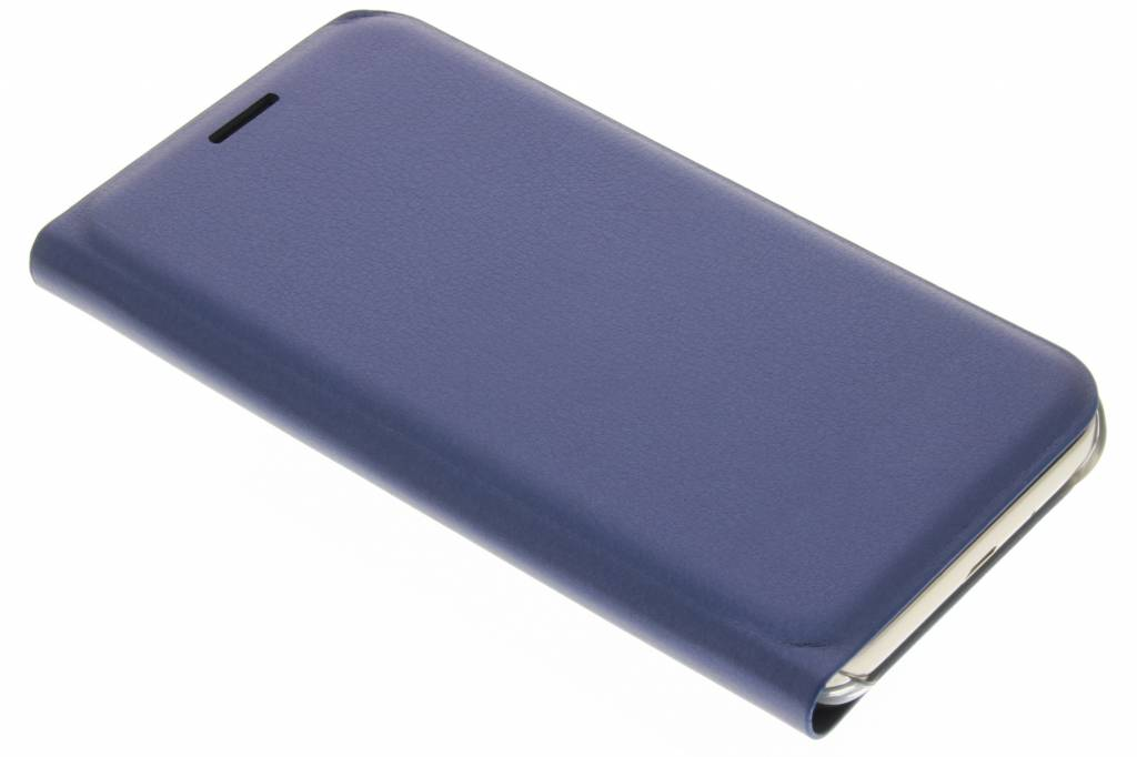 Donkerblauwe luxe slim booktype hoes voor de Samsung Galaxy J1 (2016)