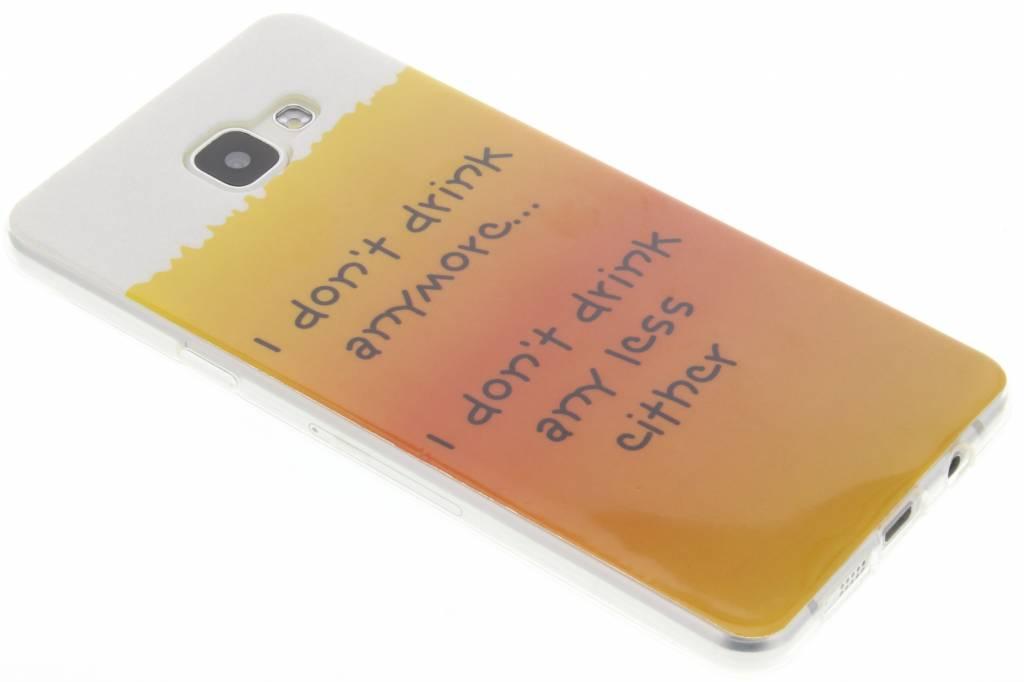 Drink design TPU siliconen hoesje voor de Samsung Galaxy A5 (2016)