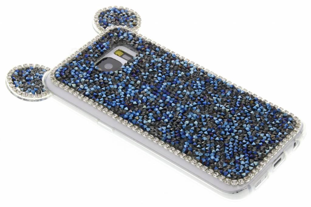 Donkerblauw blingmuis TPU hoesje voor de Samsung Galaxy S7