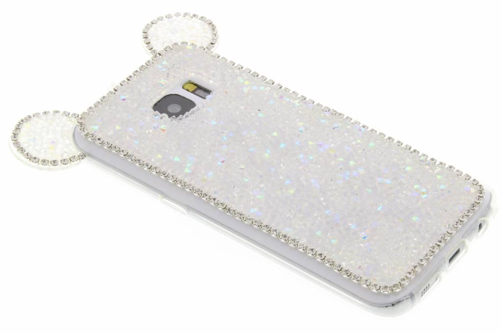 Wit blingmuis TPU hoesje voor de Samsung Galaxy S7