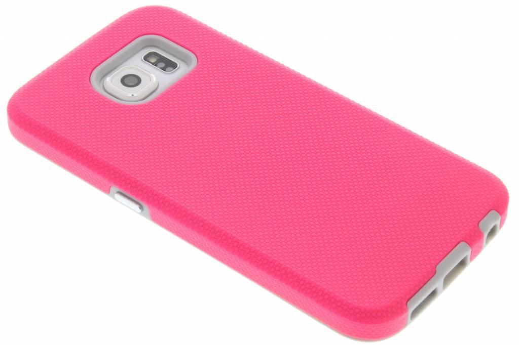 Roze rugged case voor de Samsung Galaxy S6