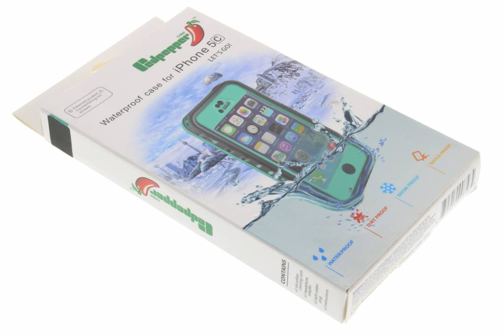 iphone 5c waterproof case redpepper dot waterproof 5c smartphonehoesjes nl 8146