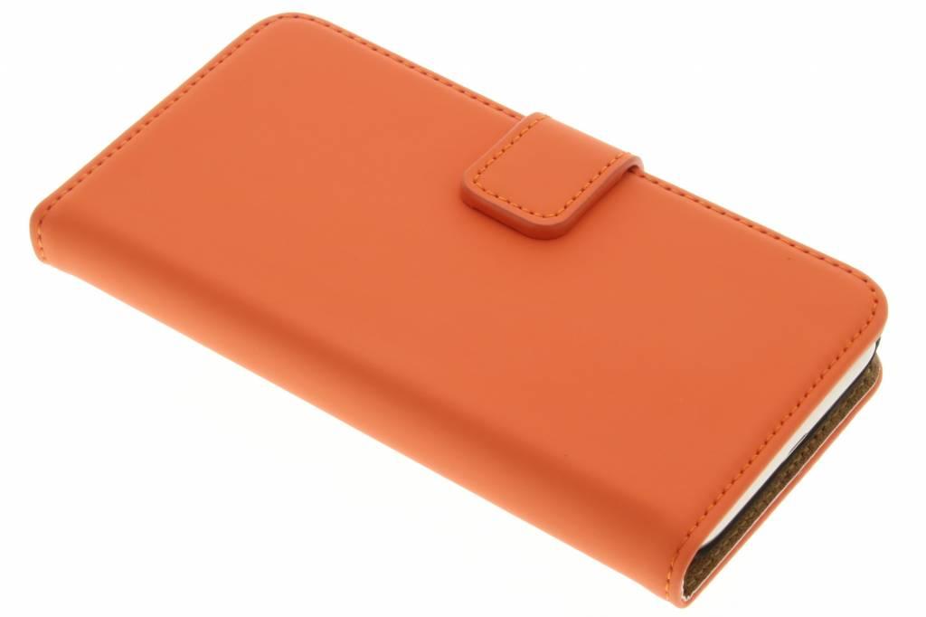 Selencia Luxe Book Case voor de Samsung Galaxy J1 (2016) - Oranje
