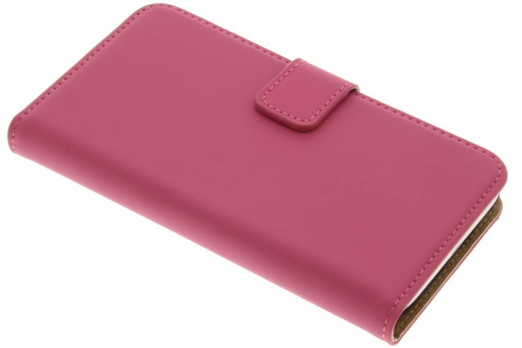 Selencia Luxe Book Case voor de Samsung Galaxy J1 (2016) - Fuchsia