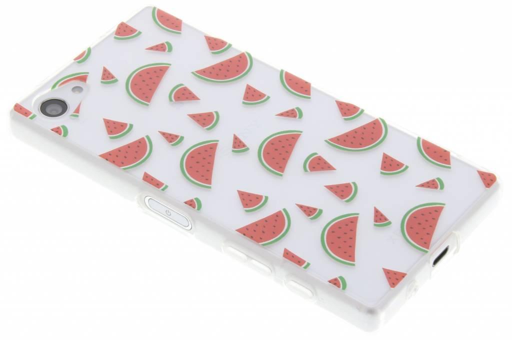 Transparant watermeloen design TPU hoesje voor de Sony Xperia Z5 Compact