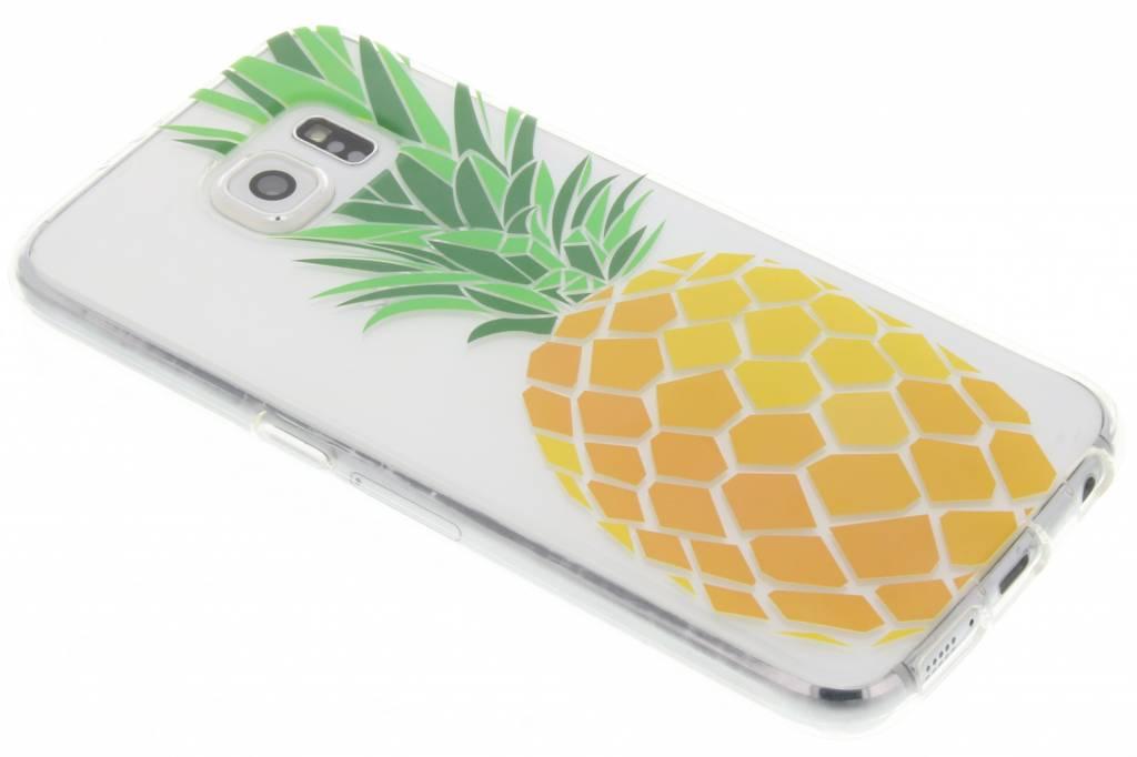 Transparant ananas design TPU hoesje voor de Samsung Galaxy S6