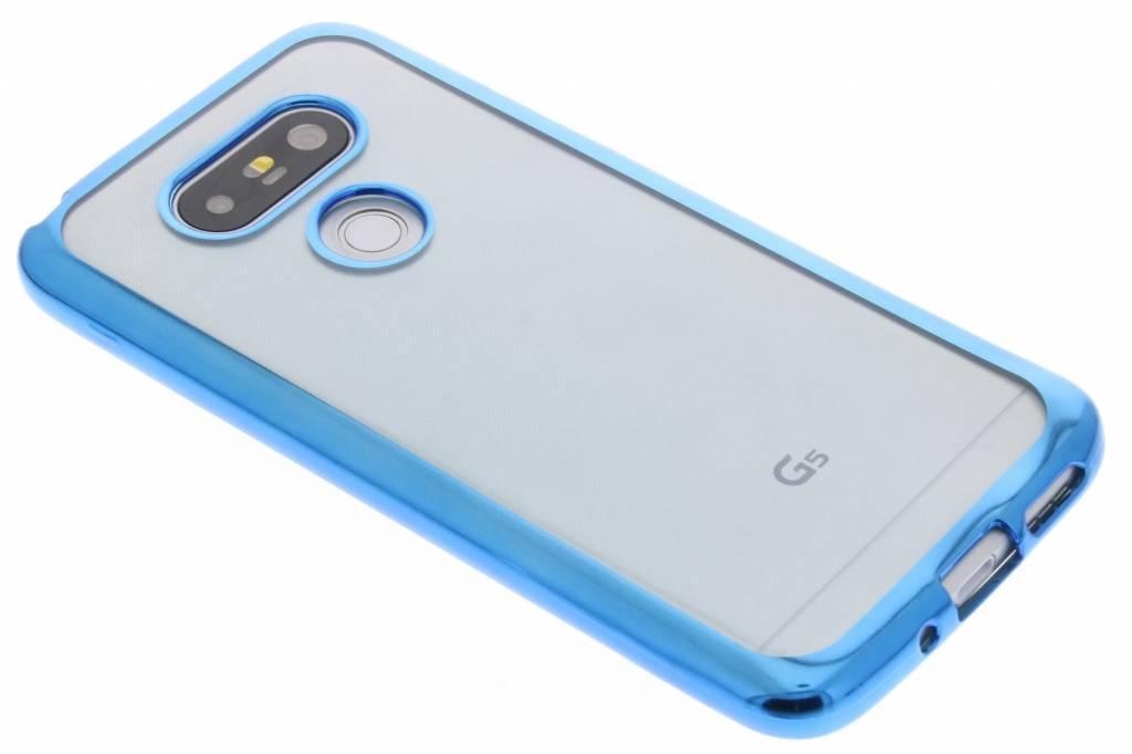 Blauw TPU hoesje met metallic rand voor de LG G5 (SE)