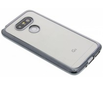 Donkergrijs TPU hoesje met metallic rand LG G5 (SE)