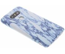 Blauw marmer hardcase hoesje LG G5 (SE)