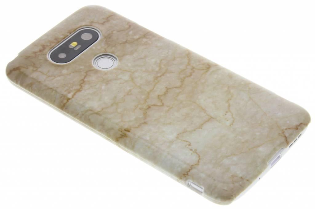 Bruin marmer hardcase hoesje voor de LG G5 (SE)