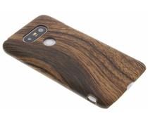 Donkerbruin hout design hardcase hoesje LG G5 (SE)