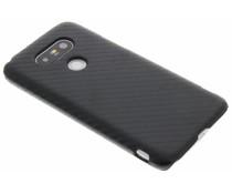 Zwart carbon look hardcase hoesje LG G5 (SE)