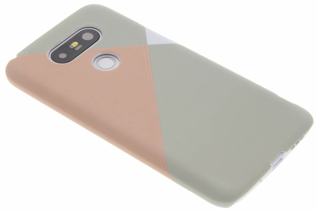 Pastelkleurige vlakken design hardcase hoesje LG G5 (SE)