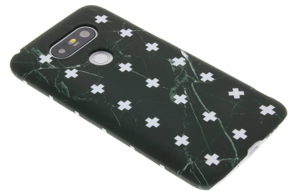 Zwart marmer plus design hardcase hoesje LG G5 (SE)
