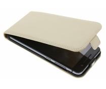 Selencia Luxe Flipcase HTC One A9 - Gebroken wit
