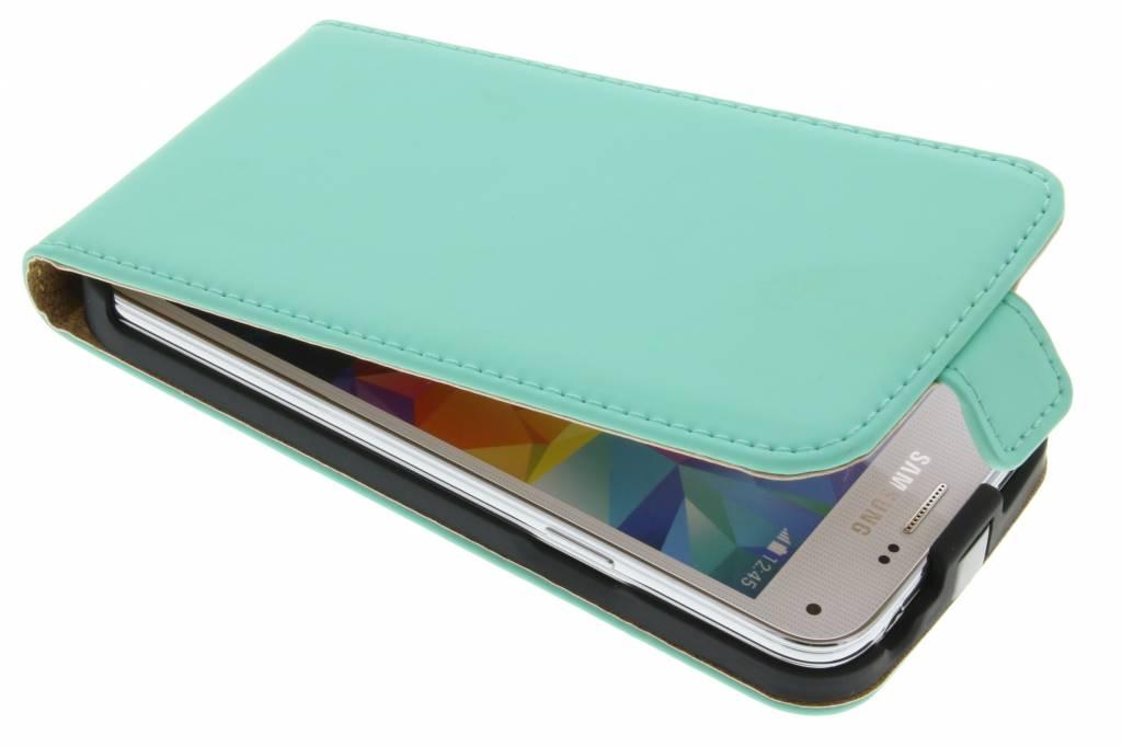 Selencia Luxe Flipcase voor de Samsung Galaxy S5 Mini - Mintgroen
