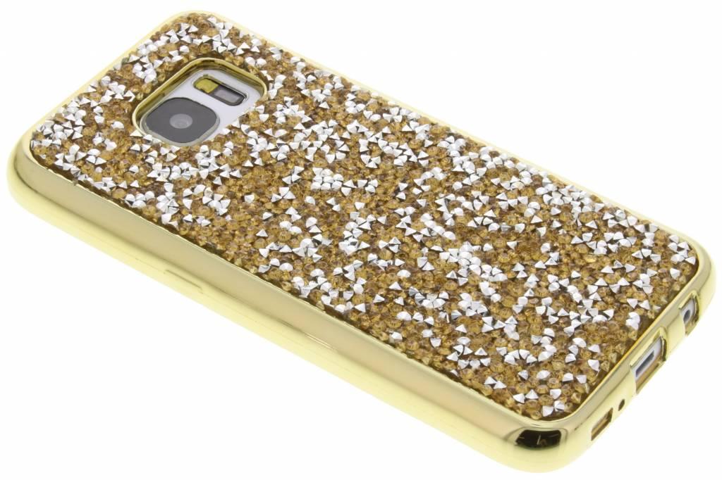 Goud blingbling TPU hoesje voor de Samsung Galaxy S7