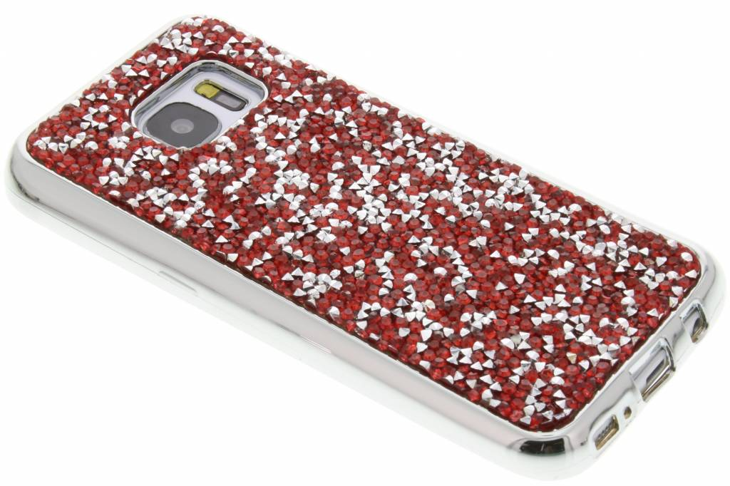 Rood blingbling TPU hoesje voor de Samsung Galaxy S7