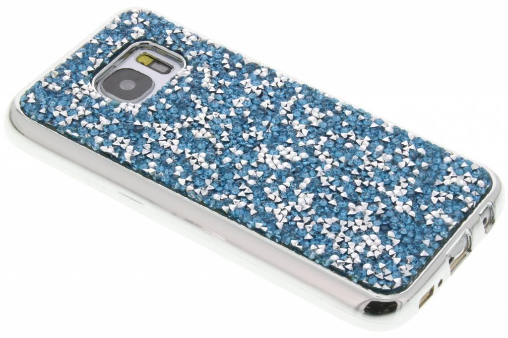 Blauw blingbling TPU hoesje voor de Samsung Galaxy S7