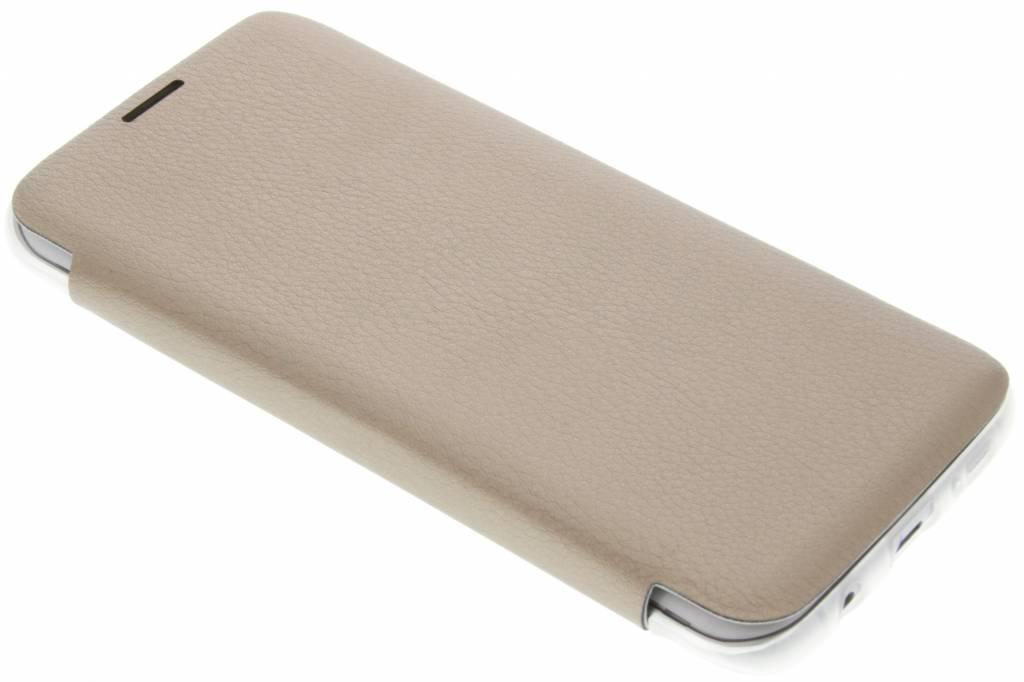 Gouden transparant slim booktype hoes voor de Samsung Galaxy S7 Edge