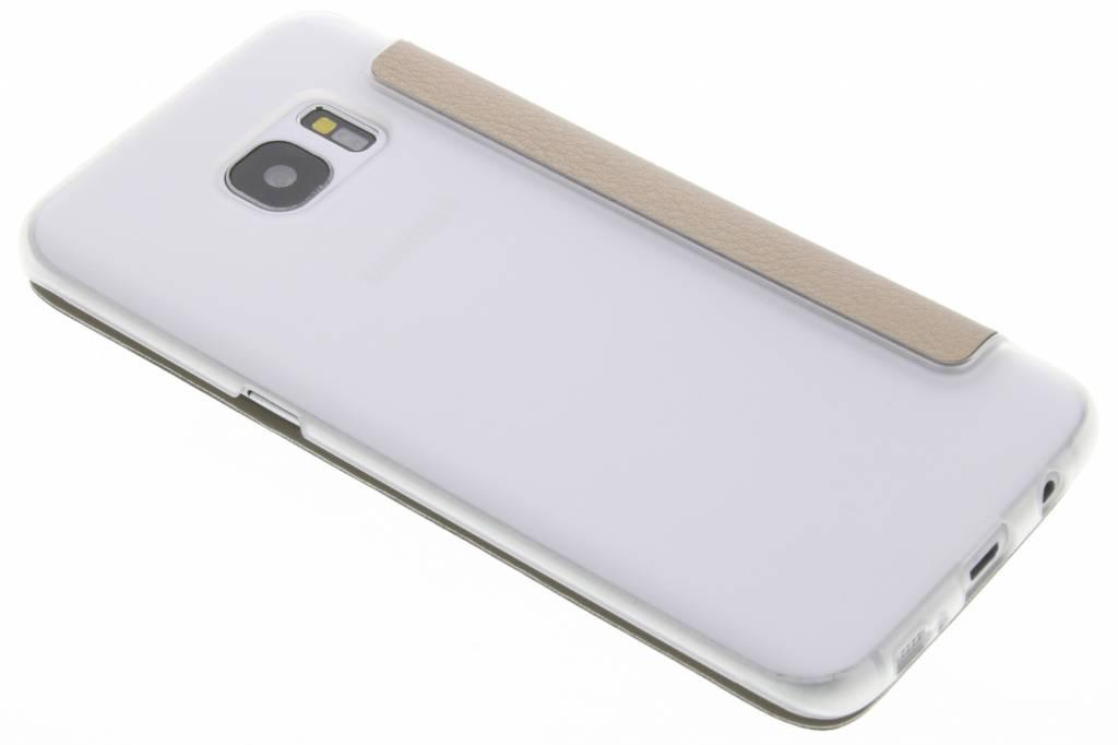 Porte-monnaie D'or Livret De Bord Pour Tpu Samsung Galaxy S QlYzxt