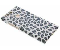 Grijs luipaard design hardcase hoesje Huawei P9 Plus