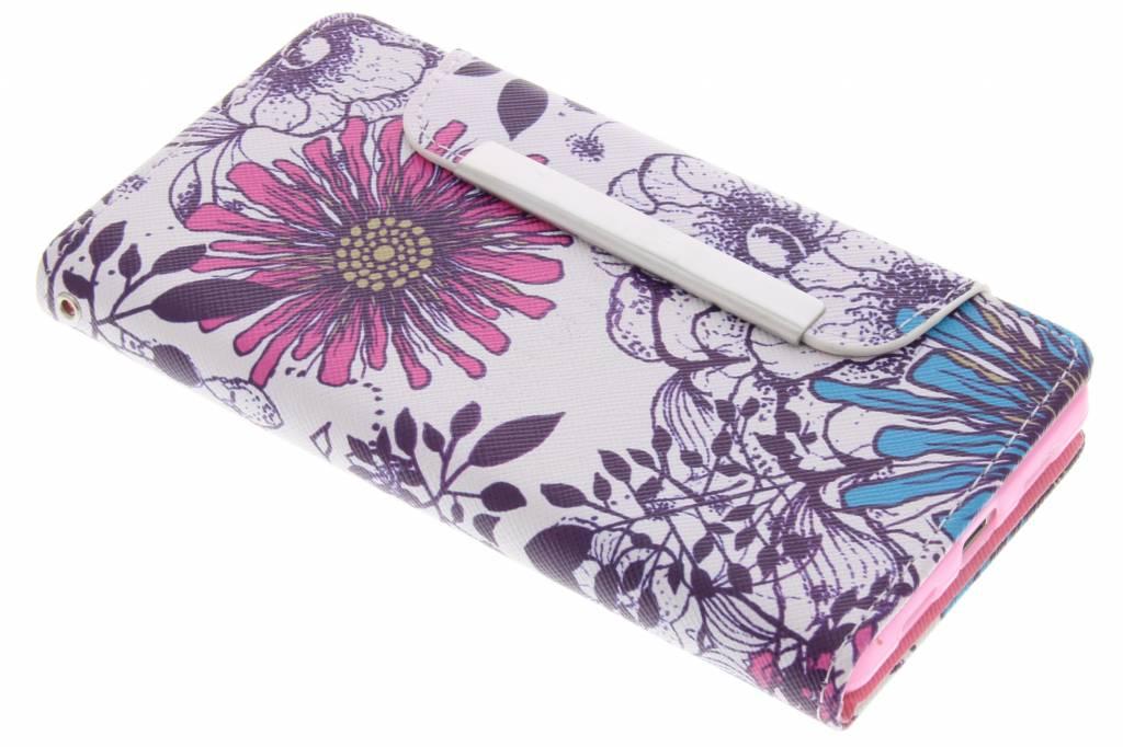 Bloemen design TPU Wallet Case voor de Huawei P8 Lite