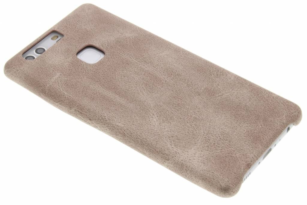 Lichtbruine TPU Leather Case voor de Huawei P9 Plus