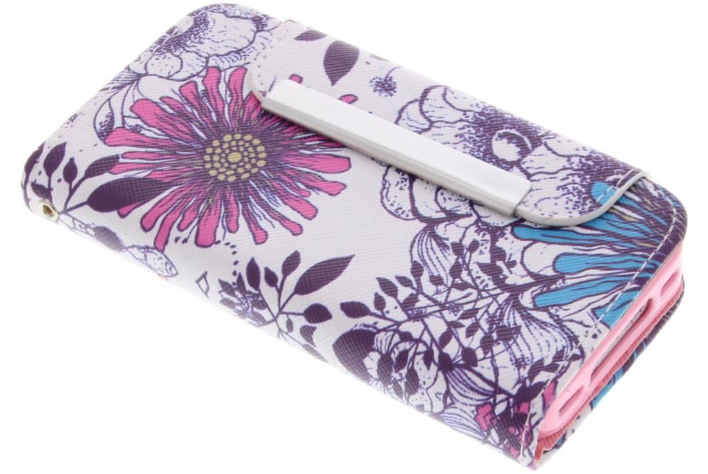 Bloem design TPU Wallet Case voor de iPhone 4 / 4s