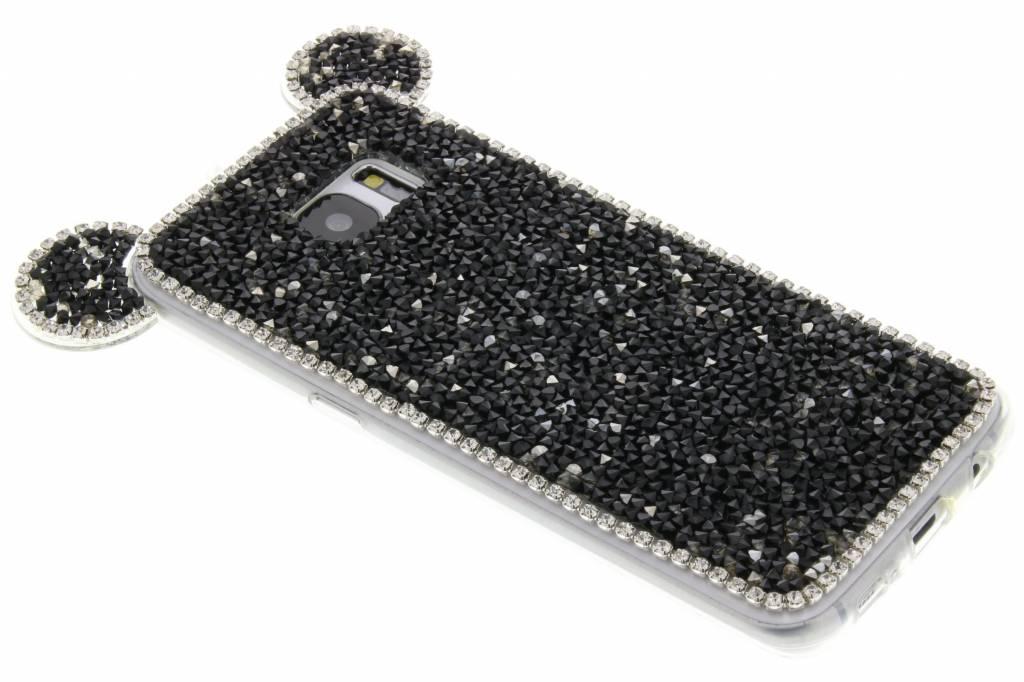 Zwart blingmuis TPU hoesje voor de Samsung Galaxy S7 Edge