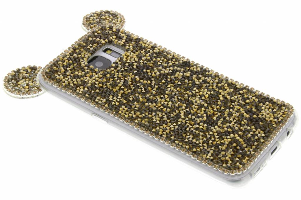 Goud blingmuis TPU hoesje voor de Samsung Galaxy S7 Edge