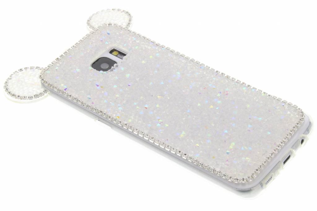 Wit blingmuis TPU hoesje voor de Samsung Galaxy S7 Edge