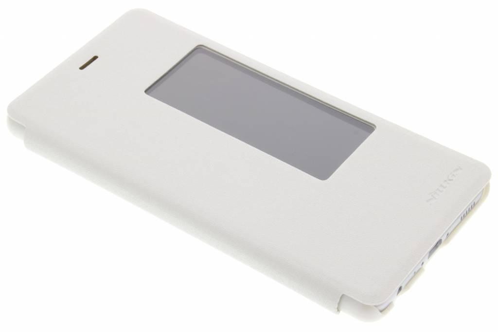 Blanc Fenêtre De Type Livre Mince Pour P9 Huawei, Plus