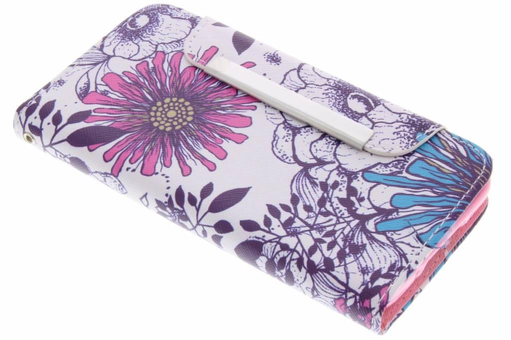 Bloem design TPU Wallet Case voor de Samsung Galaxy S5 Mini
