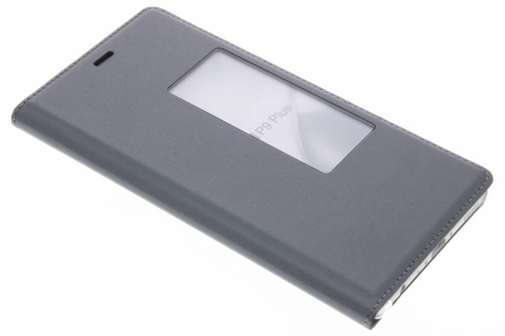 Grijs slim booktype met venster voor de Huawei P9 Plus