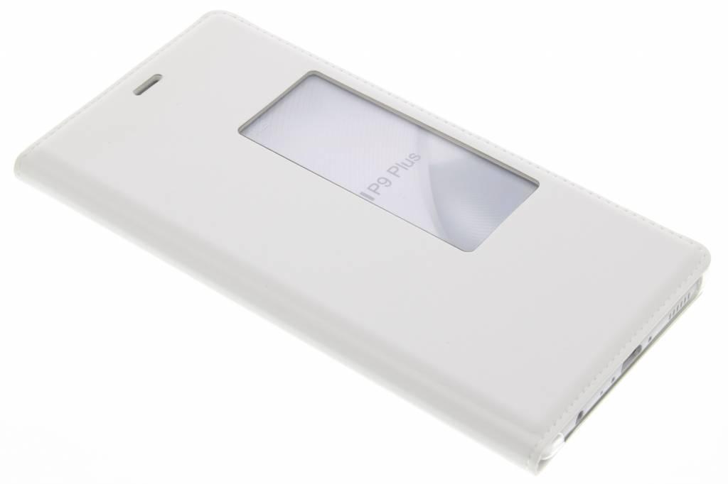 Wit slim booktype met venster voor de Huawei P9 Plus