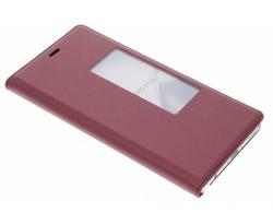 Rood slim booktype met venster Huawei P9 Plus