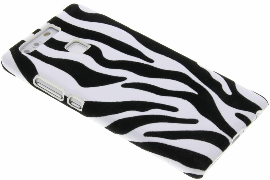 Zebra flock hardcase hoesje voor de Huawei P9