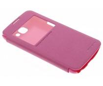 Nillkin Sparkle slim booktype hoes LG K4 - Fuchsia