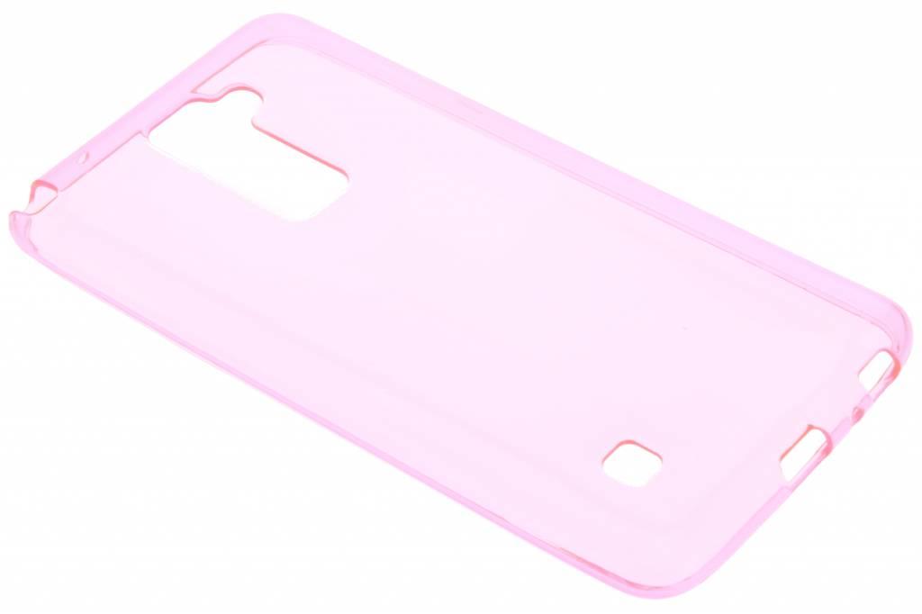 Roze transparante gel case voor de LG Stylus 2 (Plus)